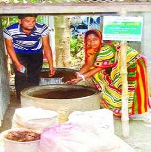 কেঁচো সার উৎপাদনে স্বাবলম্বী